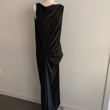 Donna Karan New York Iconic black gathered twist dress-Size XS (0/2) by MartinMercantile