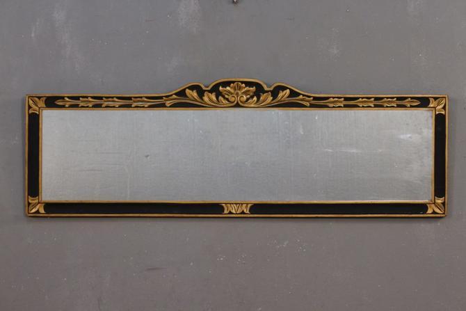 Regency Black & Gold Wide Mirror