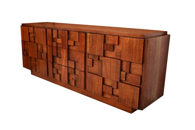 Mid Century Paul Evans Style Lane Brutalist Nine Drawer Dresser by Marykaysfurniture