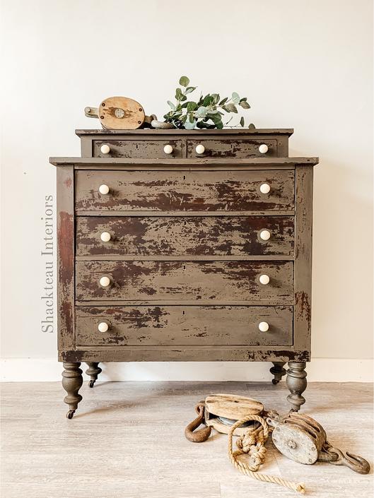 Antique Chippy Empire Dresser