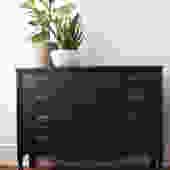 Black Bow Front Dresser