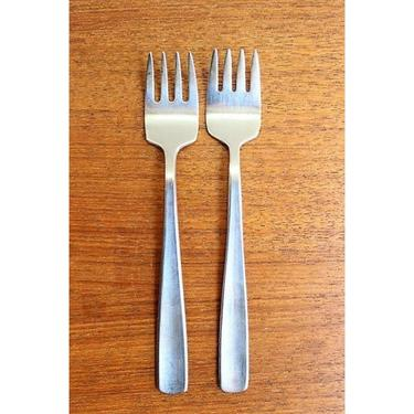 """Vintage Gense Sweden Facette - Lot of 2 Salad Forks - 7/8 & 1"""" Tines - GORGE by TheFeatheredCurator"""