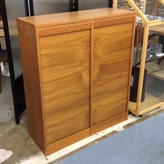 HA-C841 Danish Teak Hanging and Flat File Cabinet