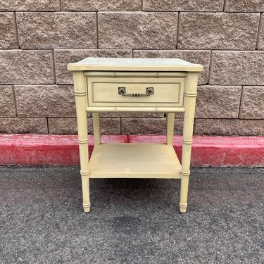 Henry link Bali Hai nightstand / side table READY FOR REFINISHING by McKennaDesignCompany