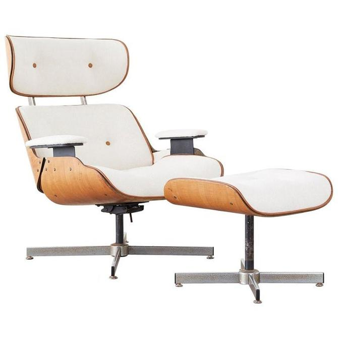 Eames Styles Lounge Chair and Ottoman by Plycraft by ErinLaneEstate