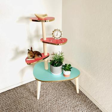 Space Age Tiered Formica Table - Reproduction with minor imperfection by dadacat
