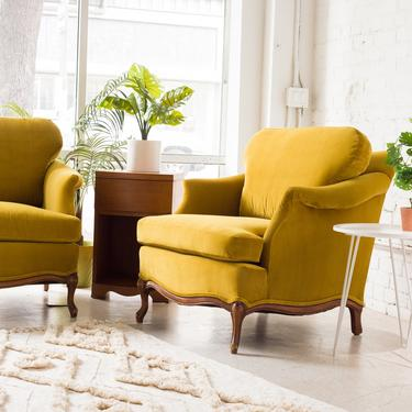 French Citron Parlor Chair