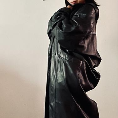 Soft Leather Trench
