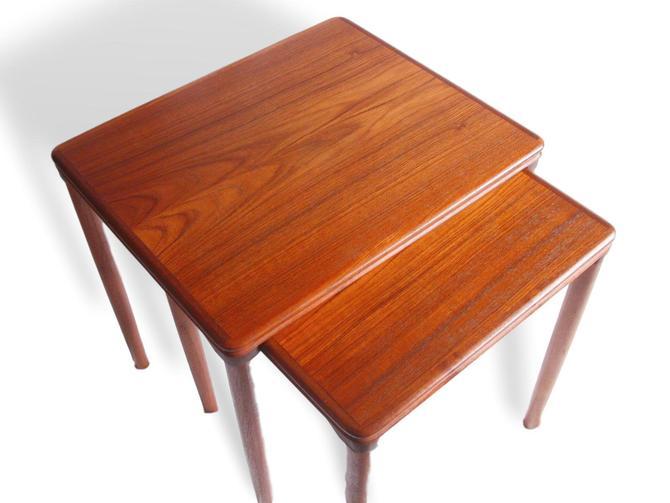 Pair Of Vintage Danish Modern Teak Nightstands / End Tables Designed By Arne Vodder Vamo Sonderborg of Denmark of Denmark MCM Eames Knoll by RetroSquad