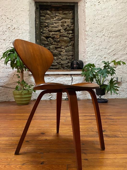 Mid century side chair Cherner chair mid century danish modern accent chair by VintaDelphia