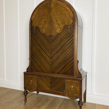 NEW - 1931 Armoire Wardrobe, Antique Dresser, Vintage Bedroom, Curved Top, Solid Wood Furniture by ForeverPinkVintage