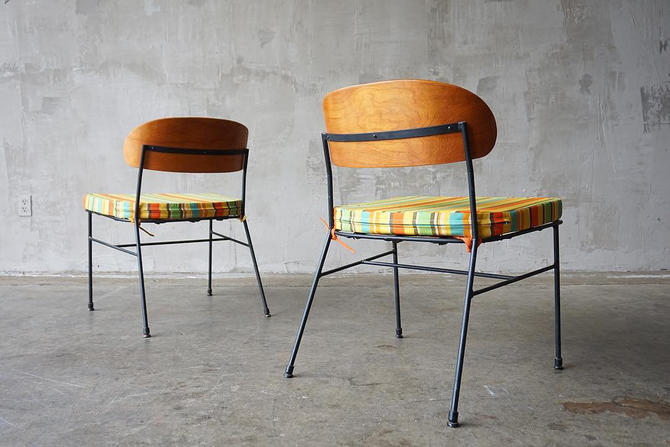 Pacific Iron Lounge Chairs by FandFVintage