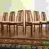 D-Scan Teak Dining Chairs