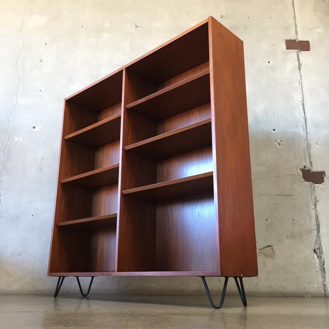 Danish Modern Teak Wood Bookcase by Poul Hundevad