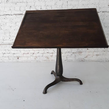 Vintage industrial cast iron adjustable drafting table by StateStreetSalvage