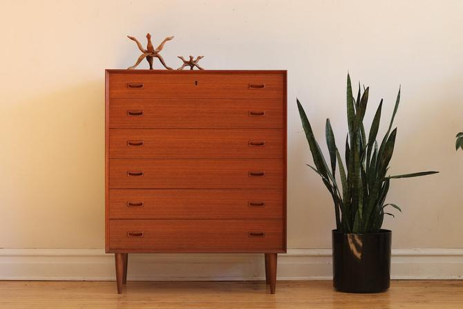 Mid Century Danish Modern Omann Jun Highboy Dresser by SharkGravy