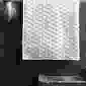 White Puchi Puchi Cotton Hand Towel