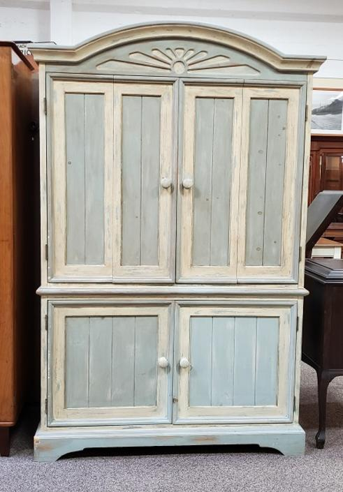 Item #RJ1 Painted Armoire Cabinet