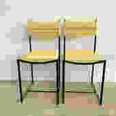 Yellow 1970s Italian Spaghetti Chair by Giandomenico Belotti for Alias - Single