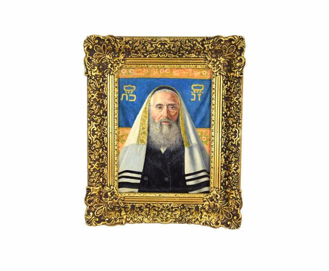 Caspar Mine Oil Painting Portrait of Jewish Scholar or Rabbi Vienna Artist by PrairielandArt