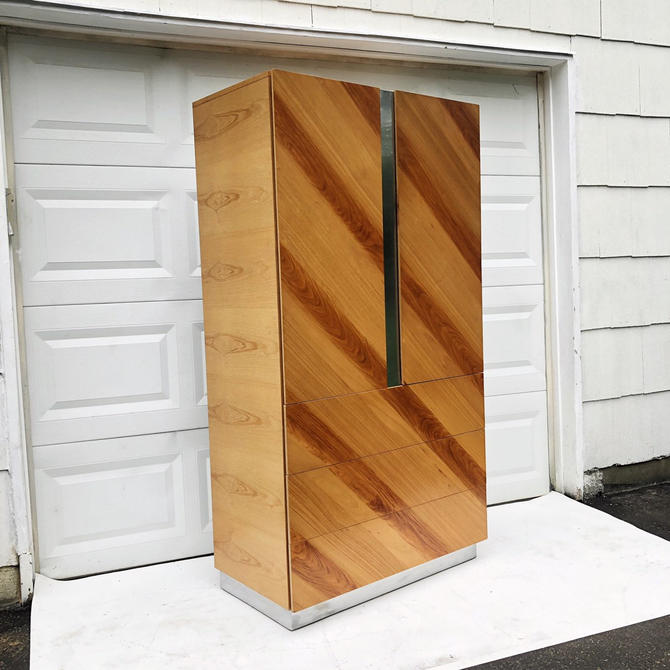 Vintage Modern Armoire Dresser by Rougier by secondhandstory
