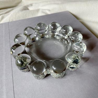 Vintage Boopie Bubble Ashtray | PRICE PER ASHTRAY | Clear Glass Ashtray | Mid Century Modern | Vintage Glass Trinket Dish by BrassBluebonnets