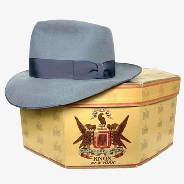 Vintage 1950s DISNEY Fedora w/ Box~ size 7 1/4 ~ Stetson Whippet Style ~ Bound Edge ~ Work Wear ~ Wide Brim by SparrowsAndWolves