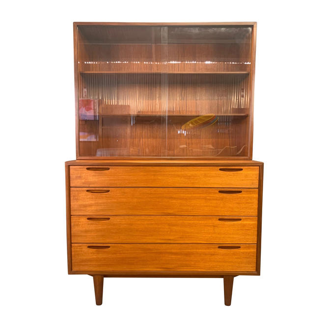 Vintage Danish Mid Century Modern Teak Chest of Drawers Hutch by Kofod Larsen for Brande Mobelfabrik by AymerickModern