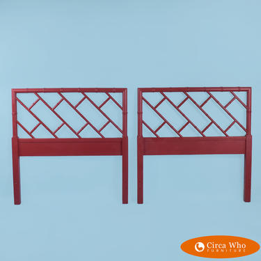 Pair of Twin Chippendale Headboards