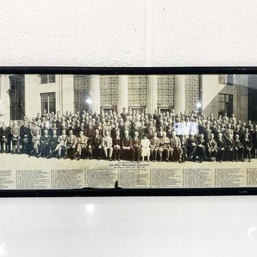 Antique Footlong Photograph Print Framed Life Office Management Association Conference Fort Wayne Indiana 1920s 1924 20s Wall Hanging Photo by CheckEngineVintage