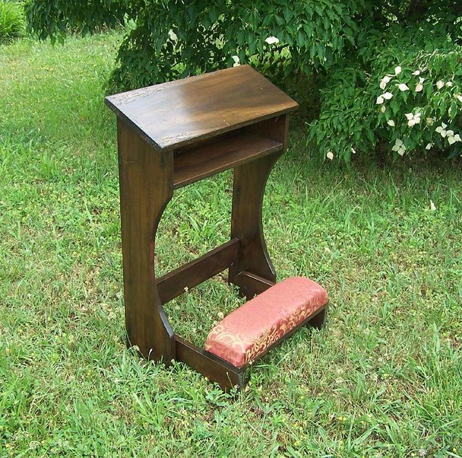 Folding Prayer Kneeler or Prie-Dieu from Reclaimed Wood by BarnWoodFurniture