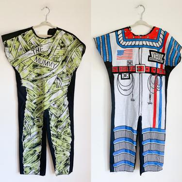 Vintage 1970s-80s Lot of 2 Halloween Costume (Astronaut 8-10x & Mummy 10-12x) by MsTips