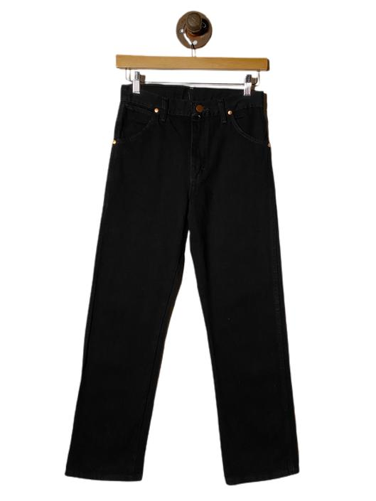 "(28"") Wrangler Black Denim Pants 022221"