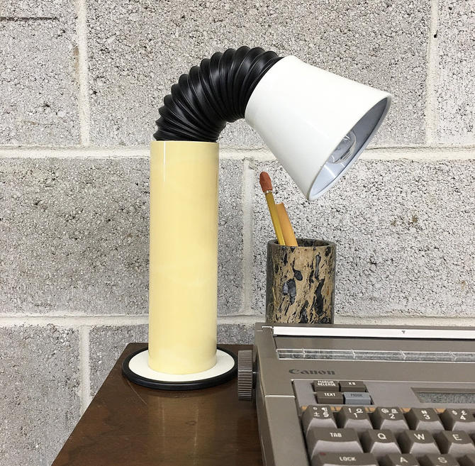 Vintage Desk Lamp Retro 1970s MCM + Elbow + Duct Hose + Adjustable + 2 Units on Hand + Sold Separately + Mood Lighting + Home + Table Decor by RetrospectVintage215