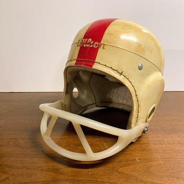 Vintage 1960s Wilson Football Helmet Made in USA 3EC-1038 LGE by OverTheYearsFinds