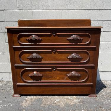 Antique Dresser Solid Walnut Wood Chest of Drawers Nightstand Furniture Bedroom Storage Wood Wash Stand Farmhouse Vintage Custom PAINT AVAIL by DejaVuDecors