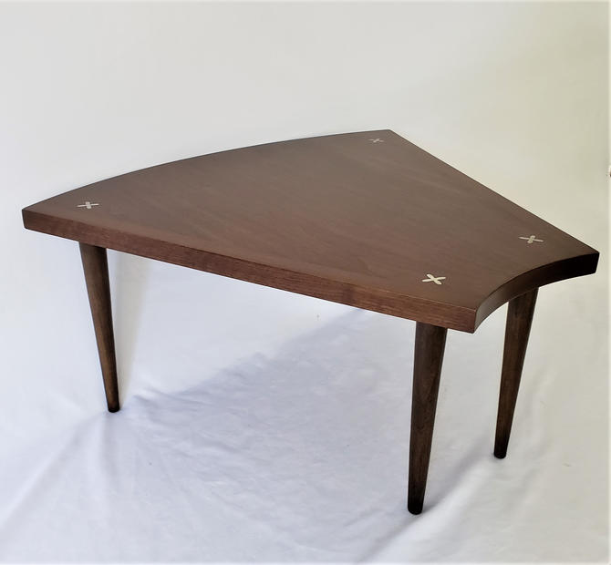 Mid Century Modern Wedge Table by Merton Gershun for American of Martinsville by WrightFindsinMCM