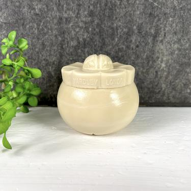 Yardley of London slag glass cosmetics jar - mid century vintage by NextStageVintage