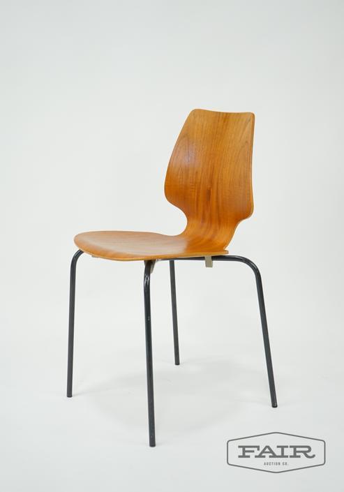 Danish Modern Teak Bentwood Chair
