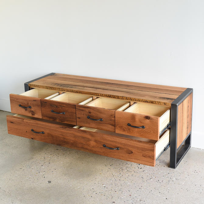 """60"""" Storage Bench / Entryway Reclaimed Wood 5-Drawer Bench by wwmake"""