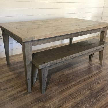 Modern Tapered Leg Dining Table by HickoryandHaze