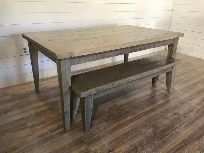 Modern Tapered Leg Dining Table by HickoryandHaze