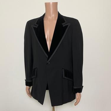 Vintage 1960s Tuxedo Jacket 60s After Six Formal Dinner Jacket by littlestarsvintage