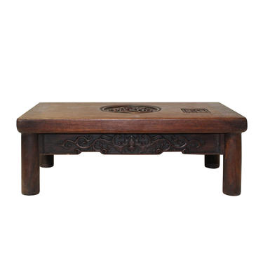 Chinese Brown Wood Scroll Rectangular Table Top Stand Display Easel cs5576E by GoldenLotusAntiques