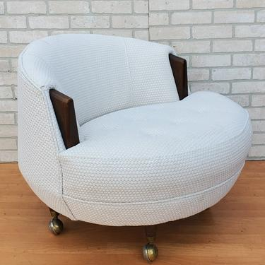 Mid Century Modern Adrian Pearsall Havana Circular Lounge Chair Newly Upholstered