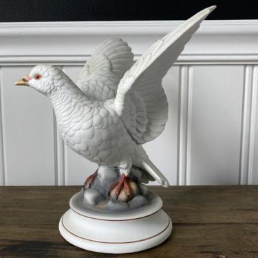 White Dove Andrea by Sadek Porcelain Figurine by RavenPearVintage