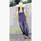 French Chore Overalls // vintage 70s denim boho hippie jeans pants dress work wear jumpsuit workwear painter's painters painter // O/S by FenixVintage