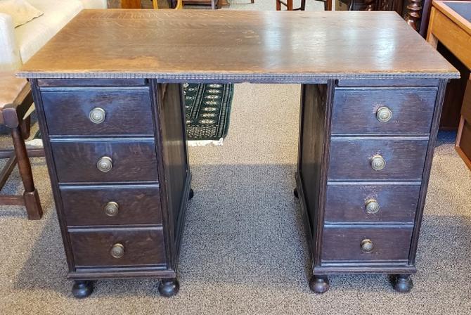 Item #R101 Classic English Oak Desk c.1920