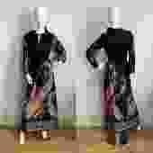 1970s Paisley Maxi Dress