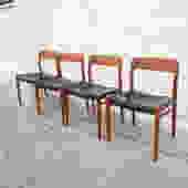 Niels Moller danish modern dining chairs